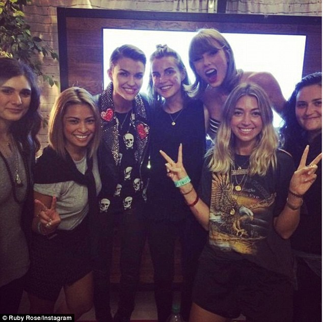 Squad goals: Rose has been admitted to Taylor Swift's coveted crew of models, musicians and celebrities