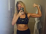 Ellie Goulding shows off her muscles