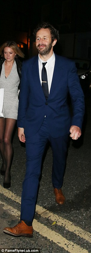 Boys are back in town: Bob Geldof and actor Chris O'Dowd both looked smart as they turned out for the party