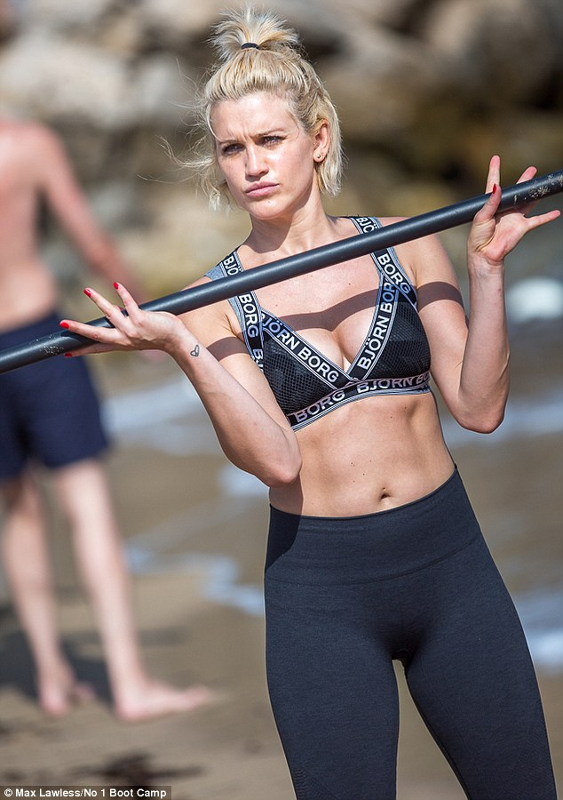 Hard to miss: Her impressive figure looked absolutely flawless during the workout