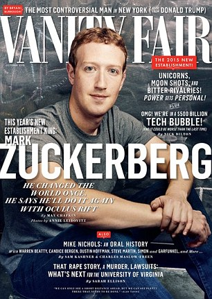 Cover star: Mark Zuckerberg, who now controls four apps that have at least 300million users each (Facebook, Instagram, WhatsApp and Messenger) tops the Disruptors list