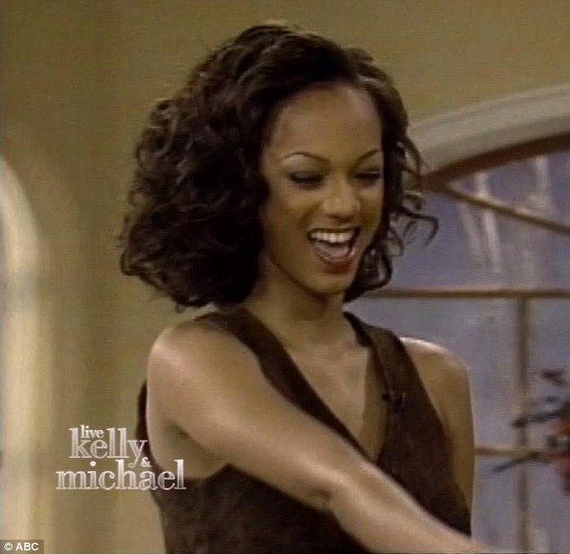 Super slim: Tyra exclaimed that she couldn't believe she was 'so skinny', before adding that she thinks she looks better with 'some a**'