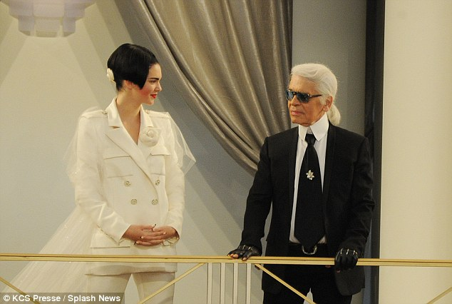 The star of the show: In July, Kendall Jenner starred as the bride during a Chanel fashion show