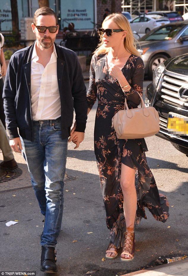 Couple: The Still Alice beauty stepped out with director husband Michael Polish