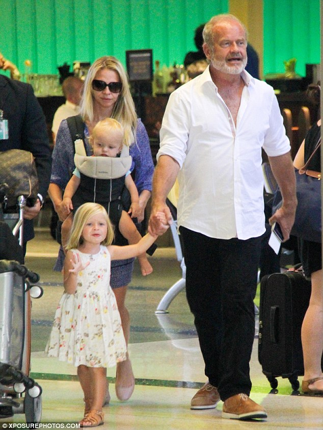 Family : Kelsey Grammer was spotted on an outing in Los Angeles with wife Kayte Walsh, their daughter Faith and son Kelsey