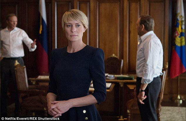Hard hitting: She plays the President's wife Claire Underwood in the political drama