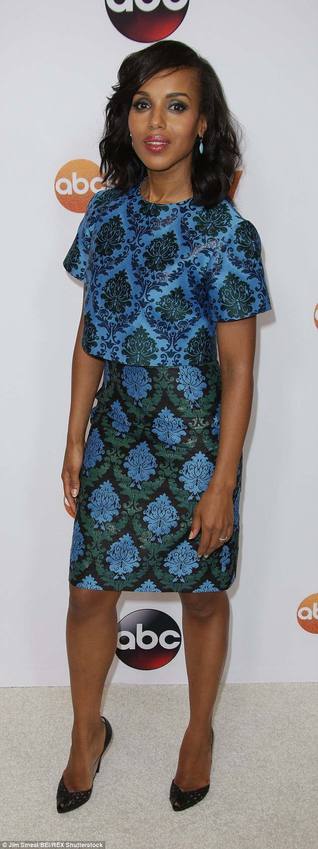 Kerry Washington came in joint 9th place with Patricia Heaton who appears in The Middle - she is pictured here at the TCA Summer Press Tour in LA this year