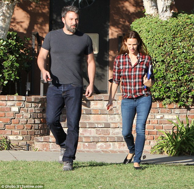 Getting along great: The duo looked in great spirits last week as they were spotted out and about in LA