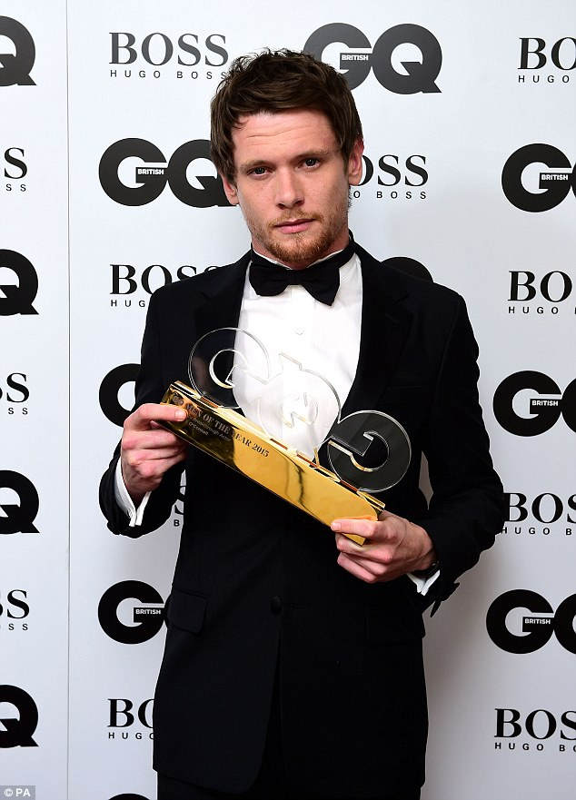 Fresh talent: Brit star Jack O'Connell was presented with the Breakthrough Actor of the Year gong