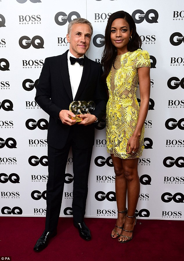 Co-stars Spectre star Naomie Harris, aka Moneypenny, was the perfect person to award Christoph  his prize