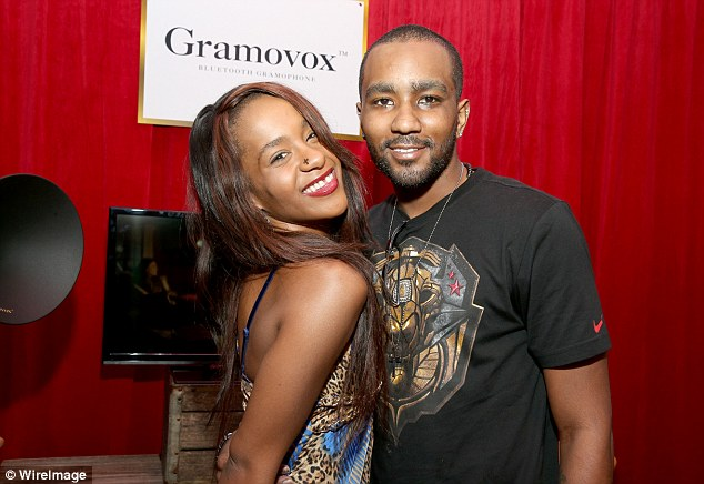 Gordon also denies physically abusing Brown, whose conservator Bedelia Hargrove, claims she had her tooth knocked out and was kicked in the side by her boyfriend (Brown and Gordon pictured in 2014)