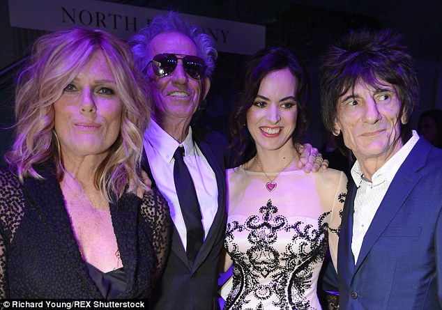 Firm friends:Keith and Ronnie, alongside their bandmates Mick Jagger and Charlie Watts, wrapped up their EXHIBITIONISM Exhibit at London's Saatchi Gallery last week which laid bare the history of the iconic rock group