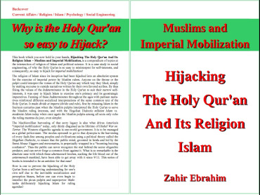 Click to Download PDF: Hijacking the Holy Qur'an and Islam  By Zahir Ebrahim 1st Edition August 2013