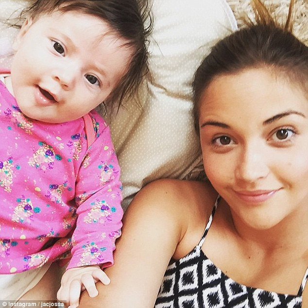 Real life: In February Jacqueline gave birth to her own little bundle of joy, snuggling up to her six-month-old daughter in a dedicated Instagram post