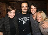"NEW YORK, NY - SEPTEMBER 08:  (L-R) Lena Dunham, Lin Manuel Miranda, Darren Criss and Kristin Chenoweth pose backstage at the hit musical ""Hamilton"" on Broadway at The Richard Rogers Theater on September 8, 2015 in New York City.  (Photo by Bruce Glikas/FilmMagic)"