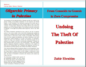 Click to Download PDF: Undoing The Theft Of Palestine - From Genocide to Genesis in Zero Compromise By Zahir Ebrahim | Project Humanbeingsfirst.org First Edition October 2013