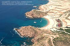 Aerial view of Santa Maria Beach and Bay, Cabo San Lucas Tourist Corridor - 2012