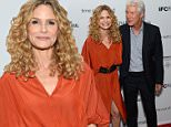 "NEW YORK, NY - SEPTEMBER 08:  Actors Kyra Sedgwick, and Richard Gere attend the ""Time Out of Mind"" New York premiere at BAM Rose Cinemas on September 8, 2015 in New York City.  (Photo by Andrew Toth/Getty Images)"