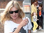 Kate Moss is seen with Stella McCartney & her children as they have afternoon tea at Taqueria in notting hill, london  Pictured: Kate Moss, Stella McCartney Ref: SPL1118282  090915   Picture by: NW/KP  Splash News  Splash News and Pictures Los Angeles: 310-821-2666 New York: 212-619-2666 London: 870-934-2666 photodesk@splashnews.com