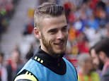 epa04915867 Spain goalkeeper David de Gea (L) goes to the bench during the UEFA EURO 2016 group C qualifying soccer match between Spain and Slovakia at Carlos Tartiere stadium, in Oviedo, Spain, 05 September 2015.  EPA/JOSE LUIS CEREIJIDO