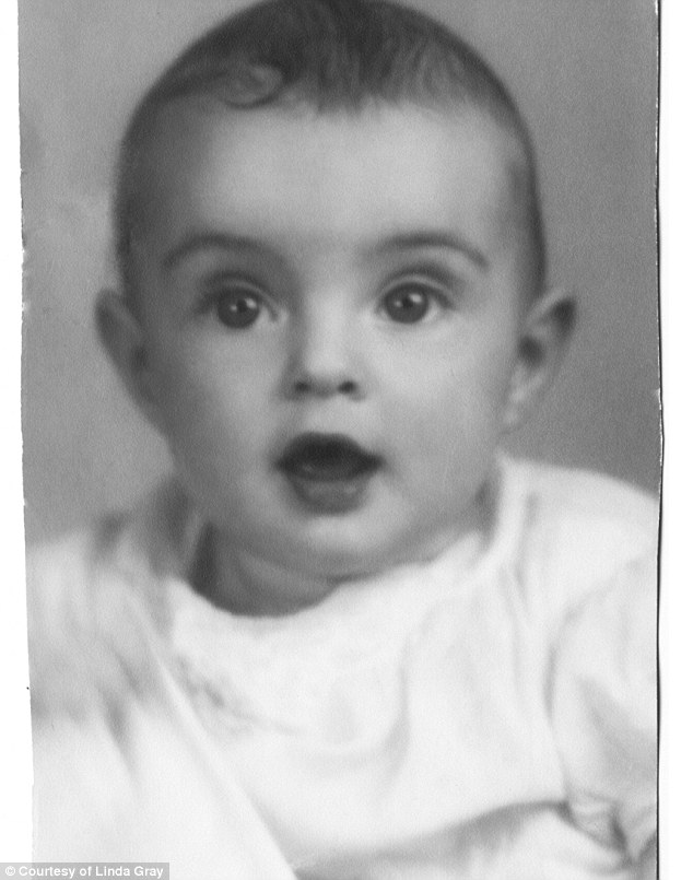 Linda was fine as a baby but she contracted polio in 1945 at age five. 'The virus had infected the cells of my central nervous system that linked my brain and my muscles'