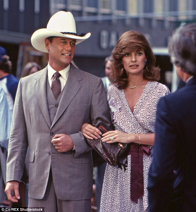 Linda always had to stay well hydrated on the set of Dallas, playing JR Ewing boozy wife Sue Ellen. 'She was always one sip away from mayhem. By taking the role of Sue Ellen, I hoped to break out of my box and avoid becoming a sad, lonely, desperate woman, like Sue Ellen or my Mom.'