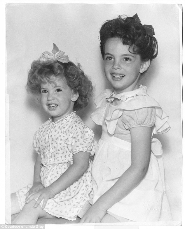 Linda and her sister Betty just before her polio diagnosis.It depressed her parents more than it did Linda, she writes, and her mother went from being a social drinker to an alcoholic