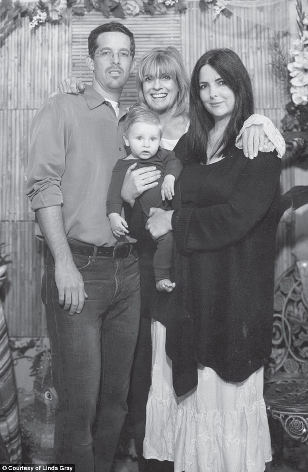 Linda felt a powerful psychic connection to Ryder, her first grandchild born in 1991 on her own birthday. Pictured here with her daughter Kehly and son-in law, Lance Sloane. 1992