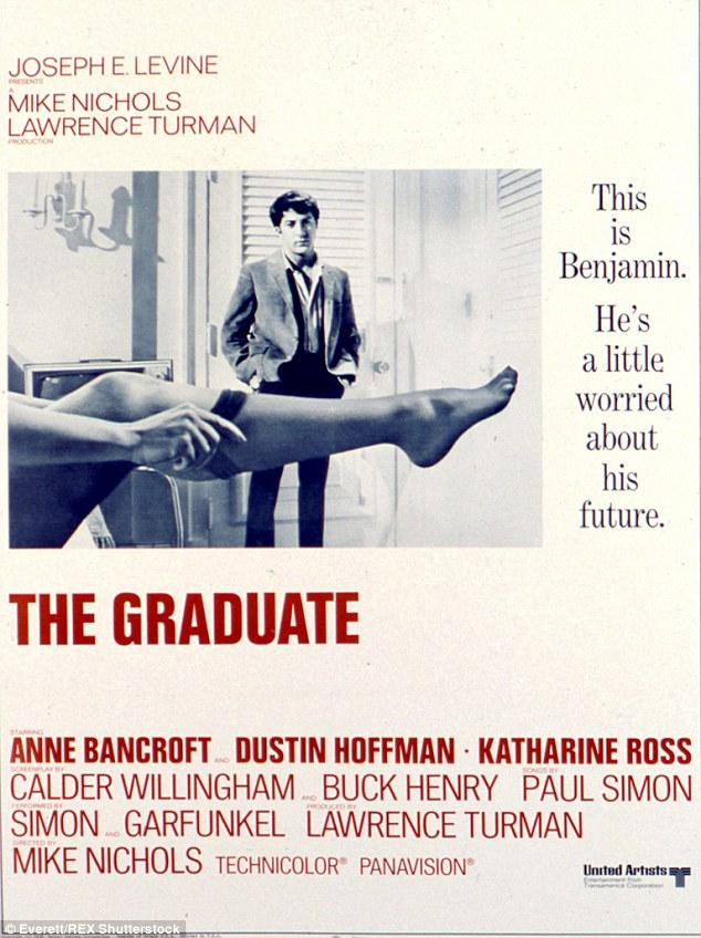 In 1966, a photographer came calling and shot pictures of her sitting on the edge of a chair rolling on silk stockings. A few months later, her legs appeared in the movie poster for the film, The Graduate starring Dustin Hoffman and Anne Bancroft