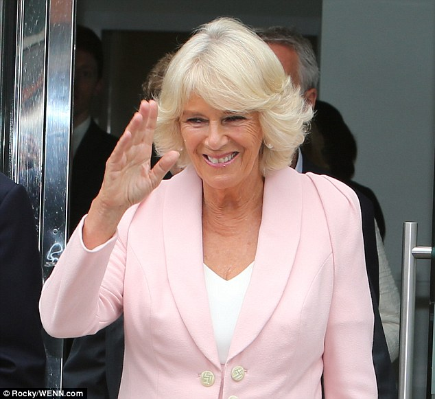 Royal visit: The Duchess of Cornwall visited ITV's South Bank studios this morning and appeared on live TV
