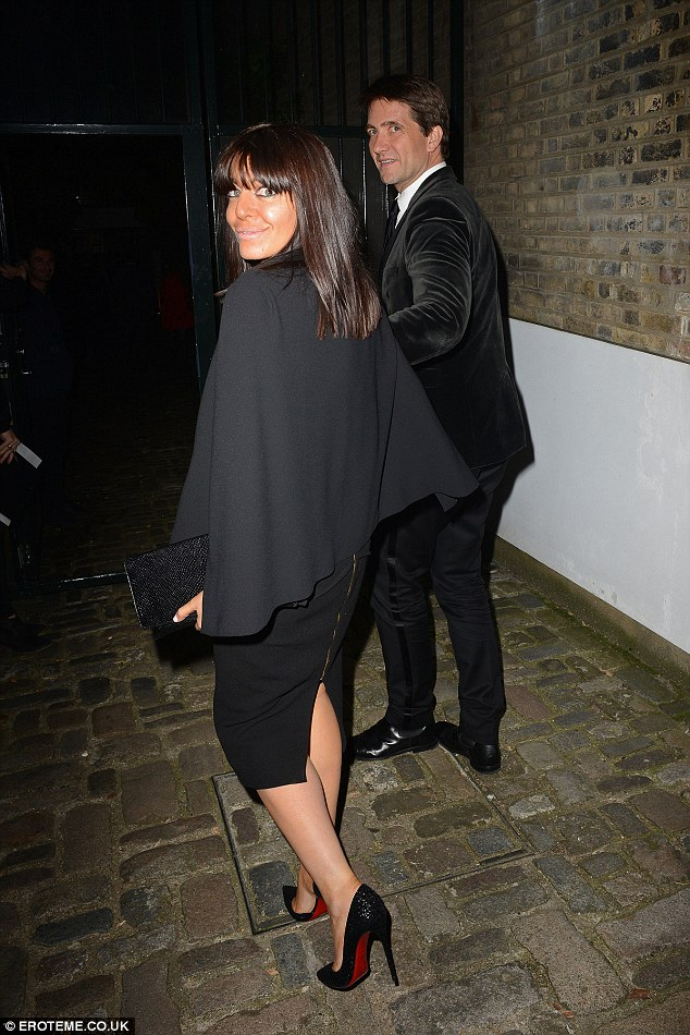 Strictly chic: Claudia Winkleman and her husbandKris Thykier looked a sophisticated pair as they arrived for the bash