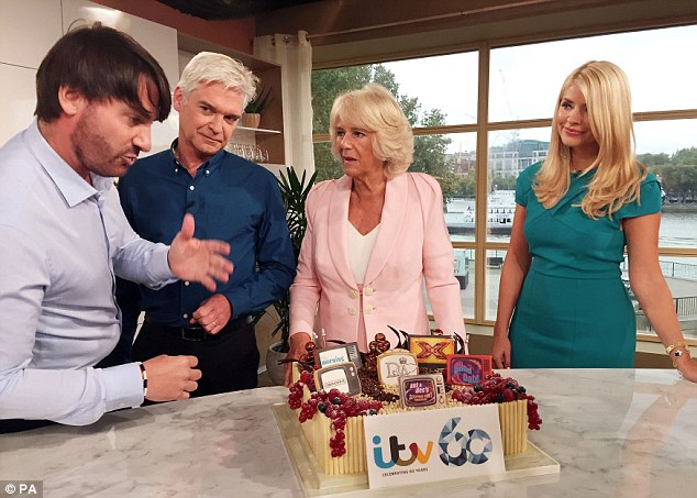 Tasty: Camilla later confessed she had wanted to stick her finger in the raspberry and marscapone confection