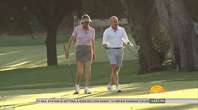 Never forget: Speaking with Lauer as the two played a round of golf, Jenner did admit that the trauma of the car accident is something that will never go away