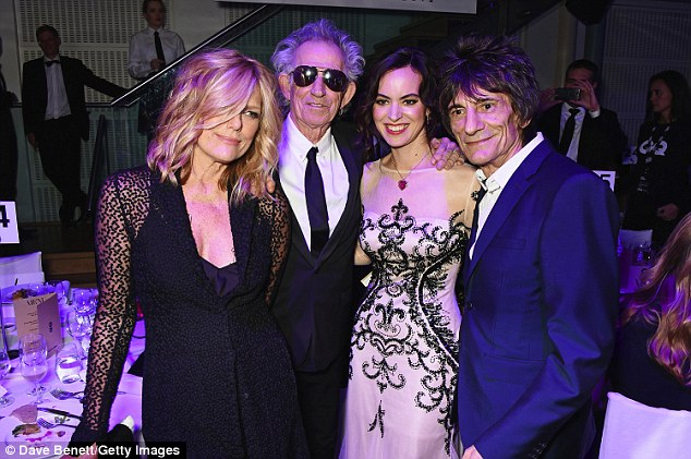 Stone me: Patti Hansen, Keith Richards, Sally Humphreys and Ronnie Wood attend the GQ Men Of The Year Awards