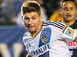 """Steven Gerrard #8 of Los Angeles Galaxy races in on goal during the International Champions Cup 2015 match between Club America and Los Angeles Galaxy at the StubHub Center on July 11, 2015 in Carson, California.    CARSON, CA - JULY 11: (Photo by Shaun Clark/Getty Images)  """"Please note this image forms part of the Getty Premium Access agreement and may incur an additional fee. If reused it must be downloaded from the Getty site"""""""