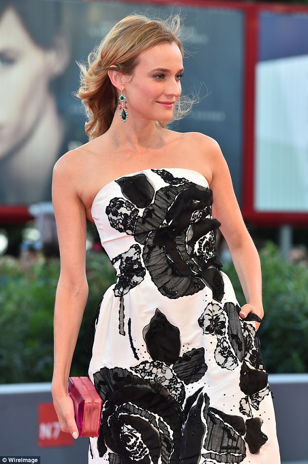 On duty: This year Diane is one of the famous faces sitting on the official Venezia 72 Competition Jury