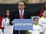 Prince Ali Bin Al Hussein of Jordan speaks at the Roman Amphitheatre area in downtown Amman, Jordan, September 9, 2015. Prince Ali is back in the race to be elected FIFA president having declared his candidacy on Wednesday four months after losing May's vote to Sepp Blatter. REUTERS/Muhammad Hamed
