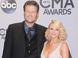 NASHVILLE, TN - NOVEMBER 05:  Singers Blake Shelton and wife Miranda Lambert attends the 48th annual CMA Awards at the Bridgestone Arena on November 5, 2014 in Nashville, Tennessee.  (Photo by Jon Kopaloff/FilmMagic)