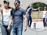 EXCLUSIVE: **PREMIUM EXCLUSIVE RATES APPLY** Chris Evans and Minka Kelly walk their dogs in West Hollywood. The couple fuelled rumours they are back together as they were spotted with their furry friends over Labor Day weekend, on September 5, 2015.\n\nPictured: Chris Evans and Minka Kelly\nRef: SPL1117194  080915   EXCLUSIVE\nPicture by: Splash News\n\nSplash News and Pictures\nLos Angeles: 310-821-2666\nNew York: 212-619-2666\nLondon: 870-934-2666\nphotodesk@splashnews.com\n