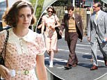 "Kristen Stewart, Jesse Eisenberg and Steve Carell seen filming scenes at the ""Untitled Woody Allen Project"" movie set at the Brooklyn Public Library.\n\nPictured: Kristen Stewart\nRef: SPL1116391  080915  \nPicture by: Jose Perez \n\nSplash News and Pictures\nLos Angeles: 310-821-2666\nNew York: 212-619-2666\nLondon: 870-934-2666\nphotodesk@splashnews.com\n"