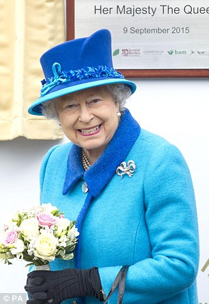 Touching tribute: The Queen wore Victoria's bow brooch on her coat