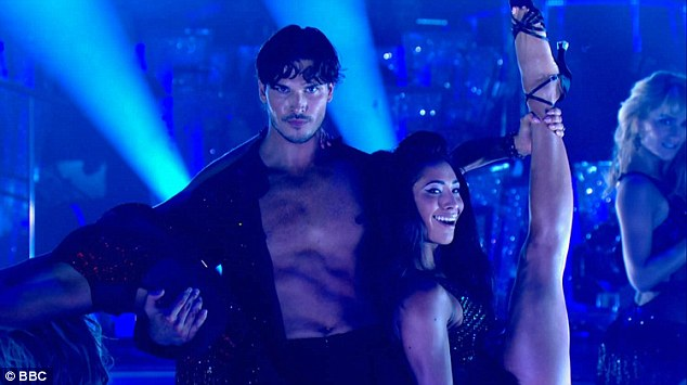 Gleb shows off his skills - and his impressively honed abs - during the Strictly launch on Saturday night
