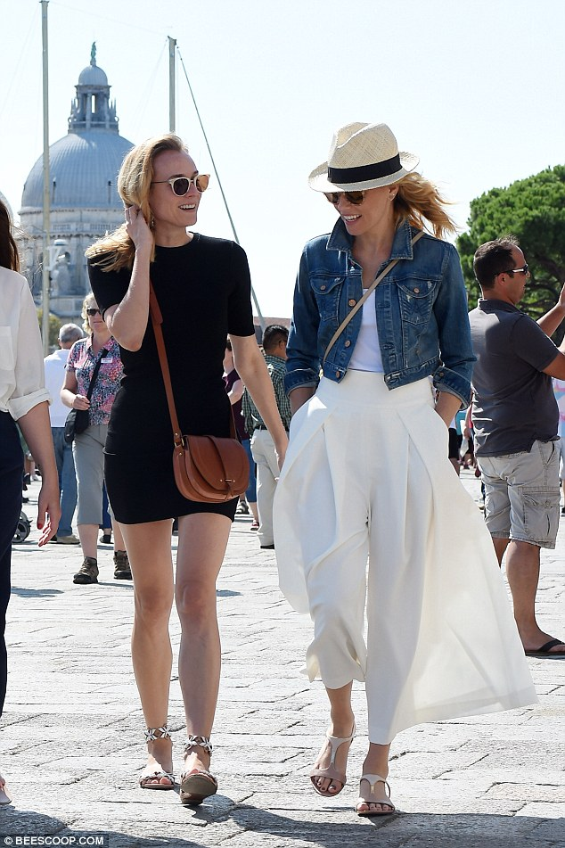 Jurors unite! Earlier in the day, Elizabeth stepped out with fellow jury member Diane Kruger