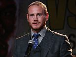 LOS ANGELES, CA - AUGUST 06:  George Groves speaks at a press conference ahead of his upcoming fight with Badou Jack on the undercard of  Floyd Mayweather/Andre Berto  at JW Marriott Los Angeles at L.A. LIVE on August 6, 2015 in Los Angeles, California.  (Photo by Stephen Dunn/Getty Images)