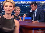 New York, NY ¿ September 8, 2015: The Late Show with Stephen Colbert\nActress Scarlett Johansson and SpaceX/Tesla Motors CEO Elon Musk visit with Stephen. Kendrick Lamar performs as musical guest.\nStephen Colbert takes over as host, executive producer and writer of THE LATE SHOW on Tuesday, Sept. 8, 2015. The comedy-variety-talk show is broadcast five nights a week from the Ed Sullivan theater in New York. \n