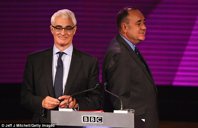 In Monday¿s BBC TV debate, Alex Salmond (right) performed notably better than Alistair Darling, the chief barker for the Unionists
