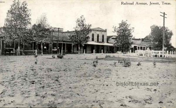 Railroad Avenue, Jewett, Texas 1909