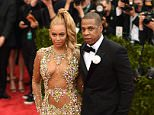 """NEW YORK, NY - MAY 11:  Beyonce and Jay Z attend the """"China: Through The Looking Glass"""" Costume Institute Benefit Gala at the Metropolitan Museum of Art on May 4, 2015 in New York City.  (Photo by Andrew H. Walker/Getty Images for Variety)"""