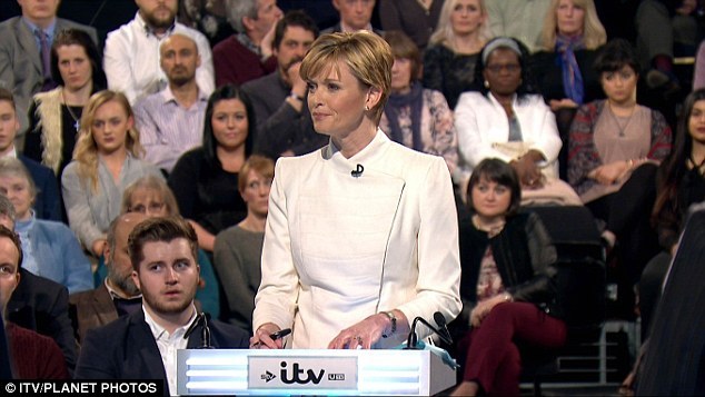 Julie Etchingham managed to channel cool Claire Underwood in House of Cards and beady Anne Robinson at the same time