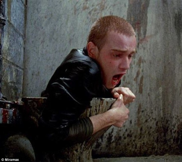 Ewan had been in smaller films before but Trainspotting, pictured during the toilet scene where Ewan bursts out of the basin, was his breakout film